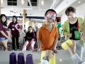 King Ma, 10, of San Gabriel and who is autistic, plays a game with his mother Mary Yan by his side during the Foundation for Disabled Youths (FFDY), event Saturday, September 24, 2011 with Edison Chinese Connection, from Southern California Edison, at Seasons Place in Industry.  FFDY, a grassroots organization in the San Gabriel Valley, serves Chinese American families with disabled children. (SGVN/Staff Photo by Sarah Reingewirtz/SVCITY)